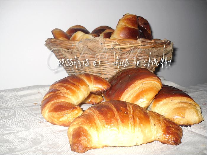 Croissants et Pains au chocolat (sans MAP) et oui le ptit déj ça se respecte!