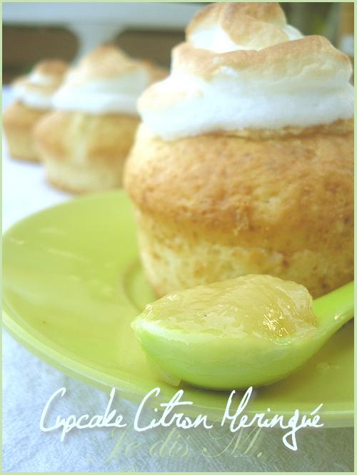 Cupcakes Citron Meringués (sans beurre)