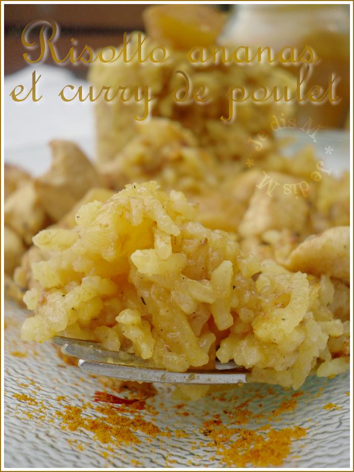 Risotto ananas et curry de poulet