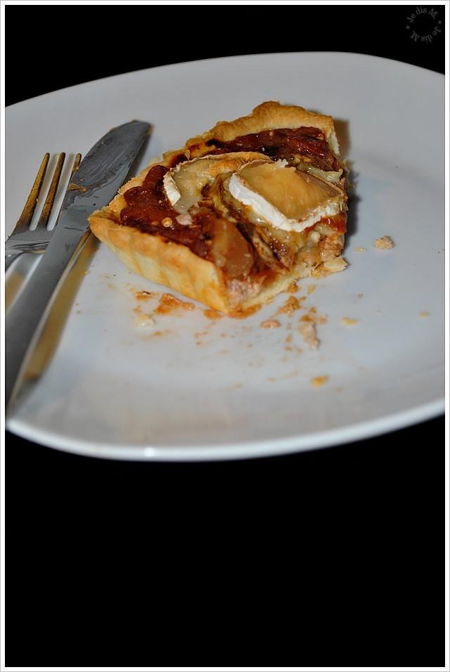 Aubergine, chèvre et thon sur fond de tarte au fromage à tartiner