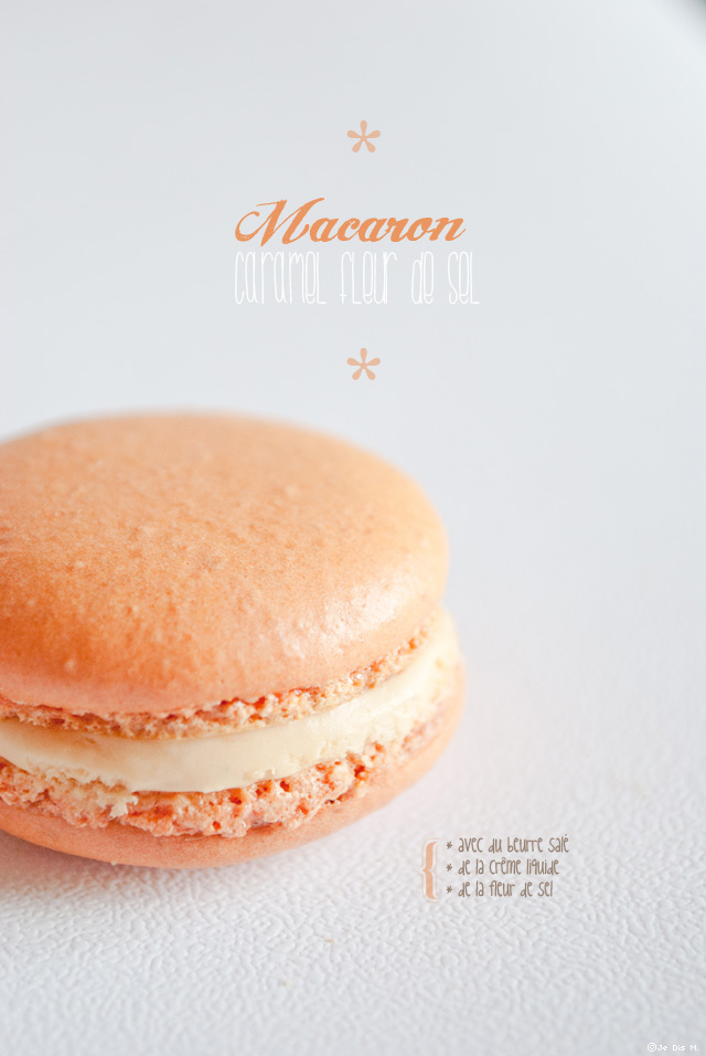 Macarons caramel fleur de sel