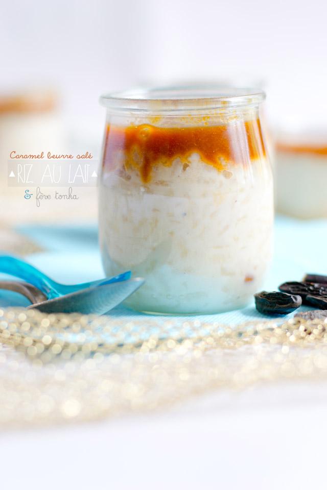 Riz au lait à la fève tonka et caramel au beurre salé