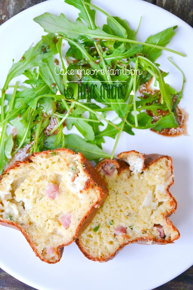 Cake chèvre, jambon et herbes fraiches (sans beurre ni huile)