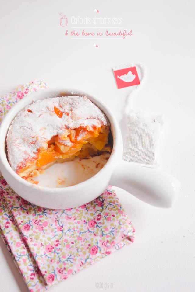 Clafoutis aux abricots secs et thé Love is Beautiful