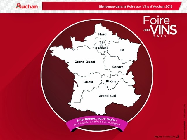 Sur la route des vins avec Auchan