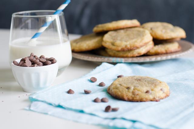 Cookies caramel et chocolat au lait