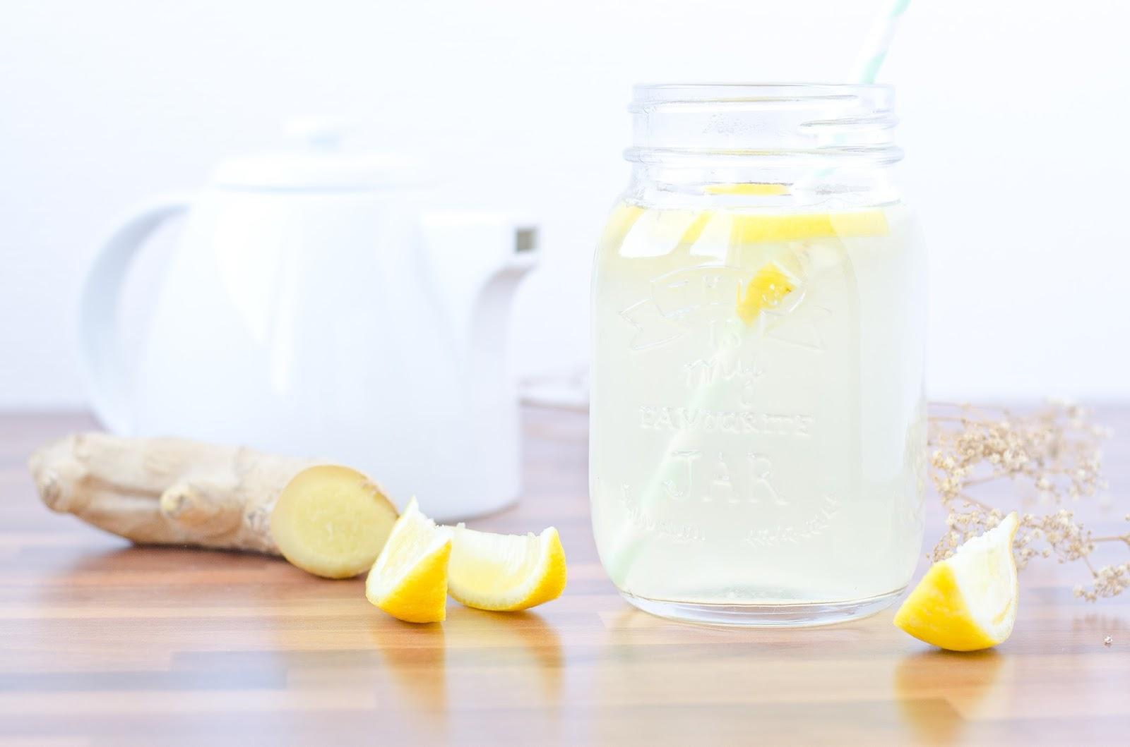 Infusion détox citron gingembre et miel