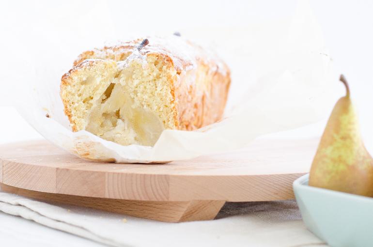 Cake aux poires entières