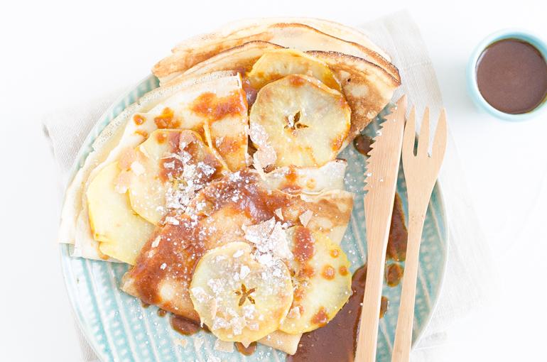 Crêpes pommes fondantes et caramel fleur de sel