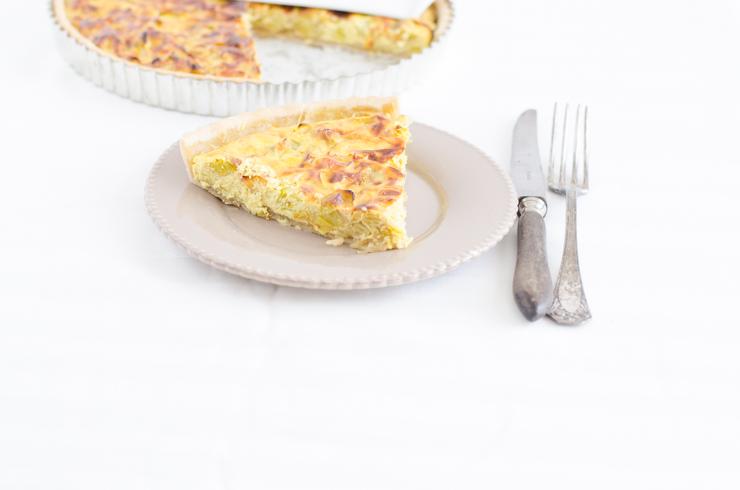 Tarte poireaux ricotta et curry (avec ou sans gluten)