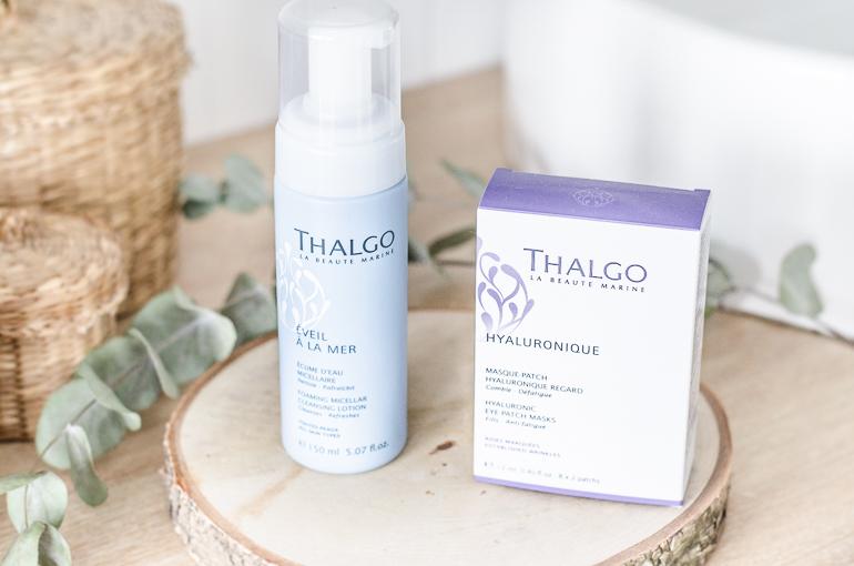 A la découverte de la marque Thalgo: écume d'eau micellaire éveil à la mer et patch yeux hyaluronique
