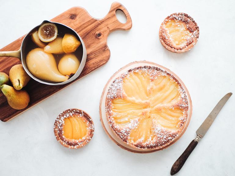 Tarte bourdaloue ou Tarte amandine aux poires